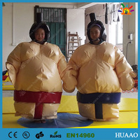 Free shipping Inflatable Sumo suits wrestling for kids with PVC ground sheet