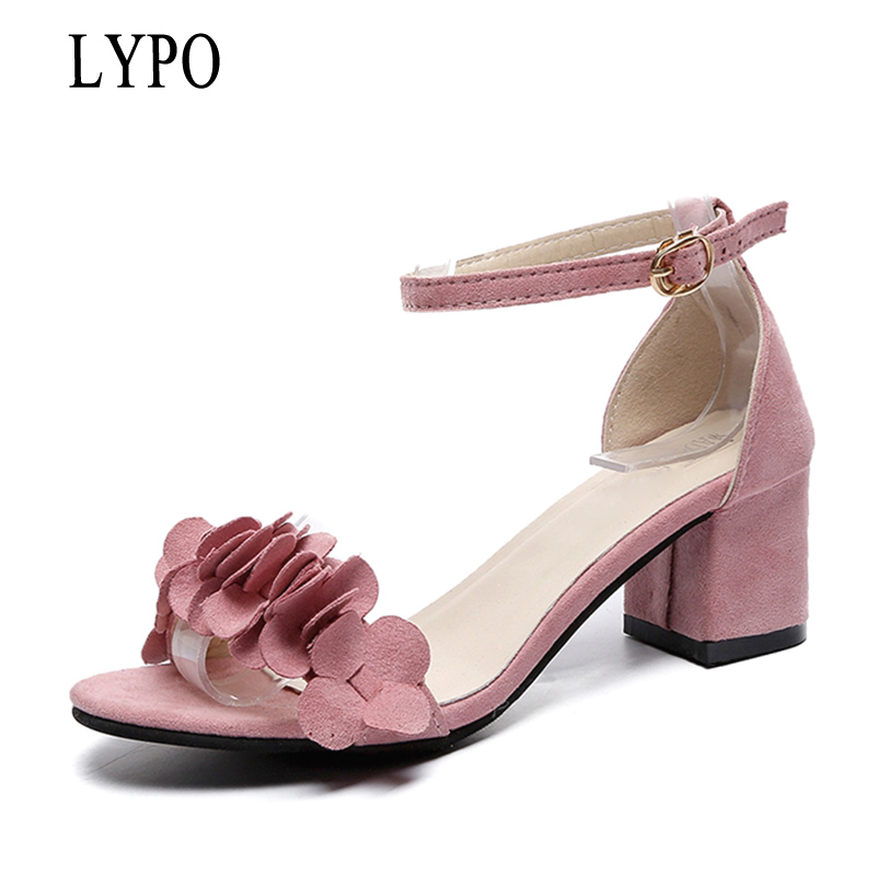 LYPO New Summer Women Sandals Ankle Strap Heels Shoes Woman Open Toe Women Shoes Gladiator High Heels Party Dress Sandals FC bigtree new summer shoes woman sandals high heels fashion open toe sandals women sexy ankle strap sandalias clothing party shoes