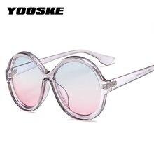 edbcc7f0febbed YOOSKE Oversized Ronde Zonnebril Vrouwen Luxe Vintage Dames Shades Big Oval Zonnebril  Vrouwelijke Vrouwen Roze Sunglass UV400