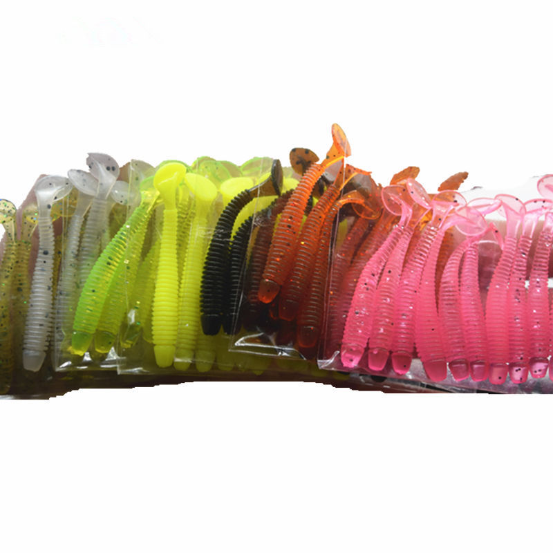 10 pcs /pack 7.1 g/5cm for Fishing Worm Swimbait Jig Head Soft Lure Fly Fishing Bait Fishing Lure