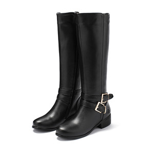 Image 2 - MORAZORA 2020 new fashion shoes woman round toe zipper autumn winter boots square heels solid colors knee high boots women
