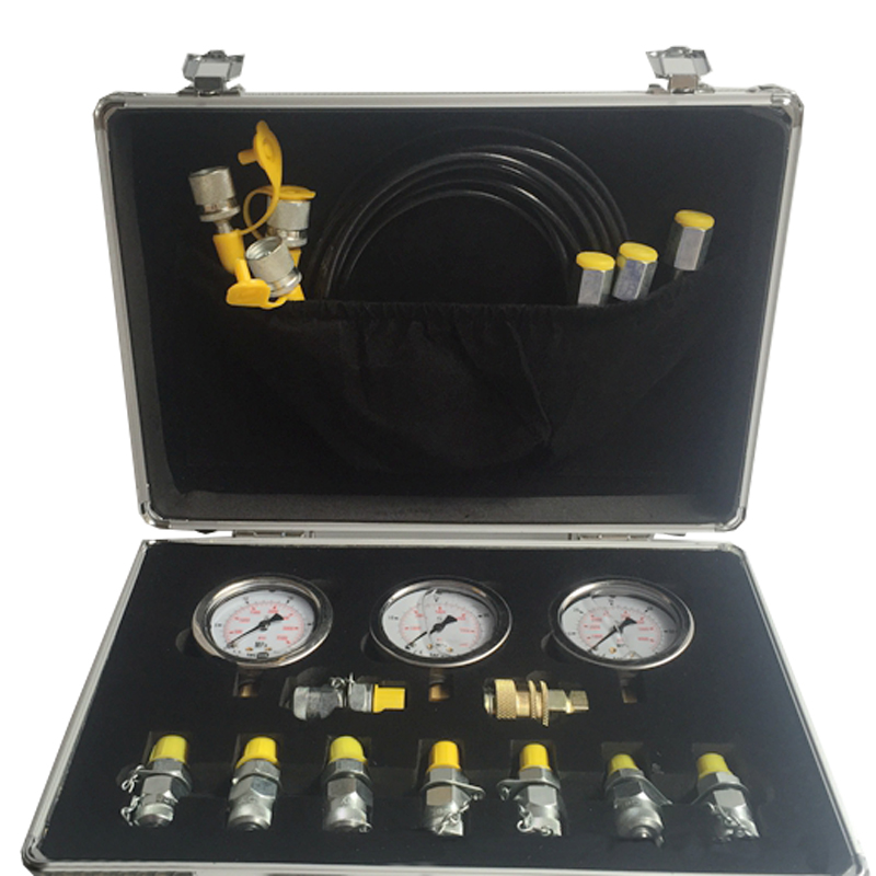 Portable hydraulic test gauge hydraulic test box mechanical digger pressure testing tool pressure measuring connector XZTK-60M