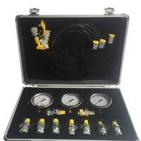 Портативный гидравлический тест мерный ящик экскаватор тест инструмент ручной инструмент набор давление подвеска в виде измерительной ли...
