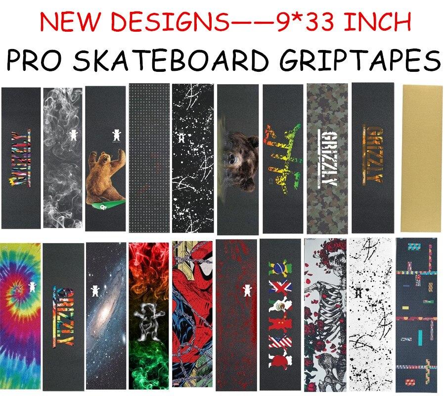 """USA Brand Grizzly Pro 9""""X33"""" Skateboard Griptape Rough Sandpaper For Skateboard Cruiser Deck Anti Skidding lixa de Skate-in Skate Board from Sports & Entertainment"""