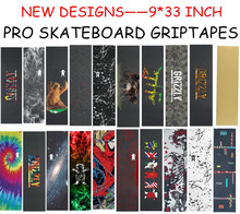 "USA Brand Grizzly Pro 9""X33"" Skateboard Griptape Rough Sandpaper For Skateboard Cruiser Deck Anti Skidding lixa de Skate"