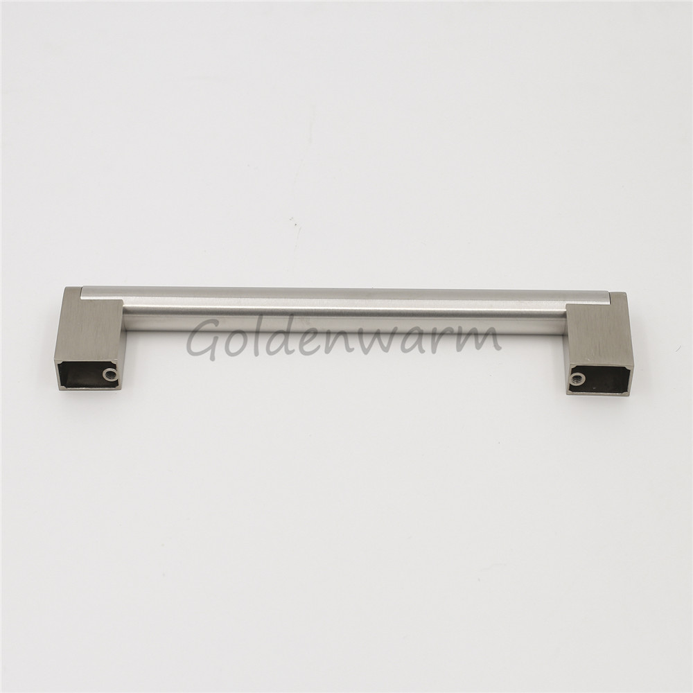 Cabinet Drawer Handles Brushed Nickel Goldenwarm Stainless Steel ...