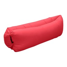 Inflatable Air Sofa Over 200Kg 201T Oxford Sleeping Bag Outdoor sofa rose red Lazy Bag Air Bed Couch Chair Inflatable Lounge