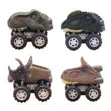 1 шт.,, в виде мини-динозавра, животные, вытягивающие машины, модельные автомобили, игровой набор, игрушки для детей, мальчиков, грузовик, хобби, забавный подарок для детей