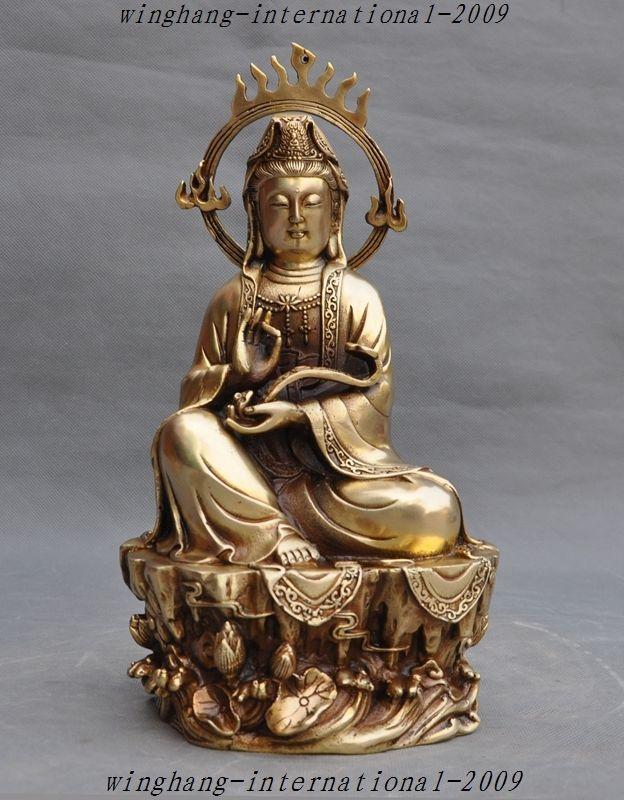 christmas 12 Chinese Buddhism brass Lotus ruyi Kwan-Yin Guan Yin goddess Buddha Statue halloweenchristmas 12 Chinese Buddhism brass Lotus ruyi Kwan-Yin Guan Yin goddess Buddha Statue halloween