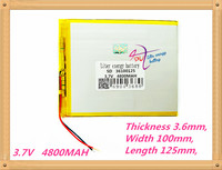Free Shipping 36100125 3 7 V 4800 Mah Tablet Battery Brand Tablet Gm Lithium Polymer Battery