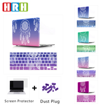 HRH 2in1 Dream Catcher Silicone Keyboard Cover Laptop Body Shell Hard Case for Macbook Pro Retina13 12 15 Air 13 11New Touch Bar