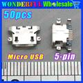 50 pcs  New Micro USB Jack For Lenovo A670 S650 S720 S820 S658T A830 A850 USB Connector