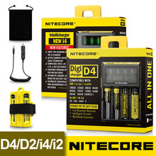 Nitecore D4 D2 New I4 I2 Digicharger LCD Intelligent Circuitry Global Insurance li-ion 18650 14500 16340 26650 Battery Charger(China)