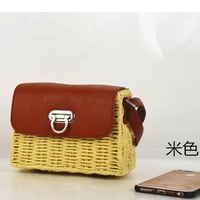 New paper rope frame cow nose lock wild ethnic style fashion straw bag beach shoulder diagonal female bag