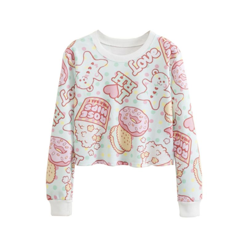 Women Short Top Long Sleeve Sweater Pullover Cute Pollovers Tops ...