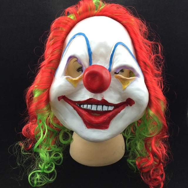 latex halloween maske terror scary halloween lustige clown gesicht maskenball partei spielzeug. Black Bedroom Furniture Sets. Home Design Ideas