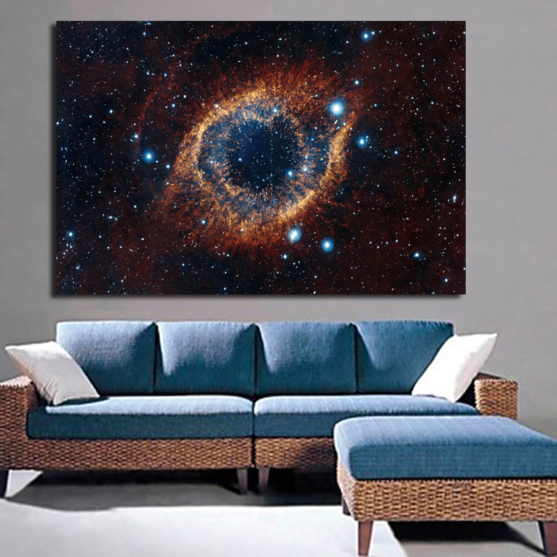 Home Wall Art Decor Pictures Frame HD Prints Universe Space Nebula Painting Living Room Canvas Starry Sky Planet Poster