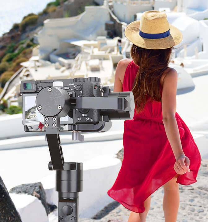 Zhiyun Crane-M Paraprofessional 3 Axis Brushless Handheld Gimbal Camera Stabilizer 360 Unlimited Rotation for GoPro iPhone Sony [hk stock][official international version] xiaoyi yi 3 axis handheld gimbal stabilizer yi 4k action camera kit ambarella a9se75 sony imx377 12mp 155‎ degree 1400mah eis ldc sport camera black