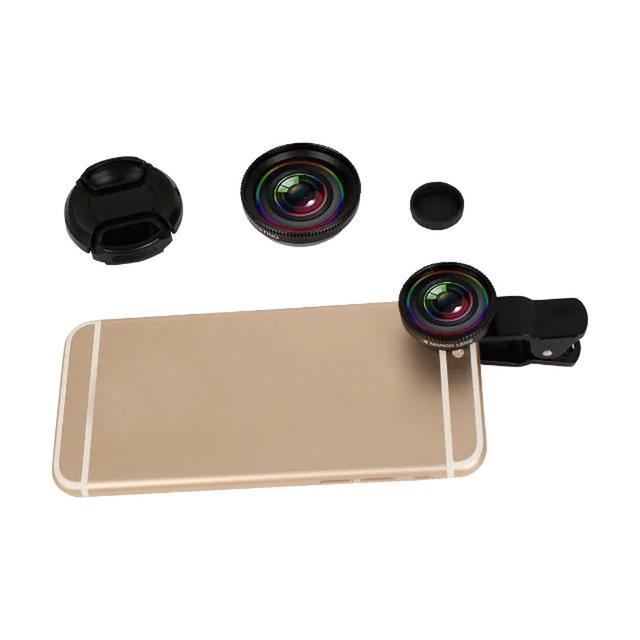 Teléfono lente profesional 2 en 1 hd lente gran angular con macro para iphone 6/6 0.7x s/5S/4S/samsung galaxy/htc/lg celulares