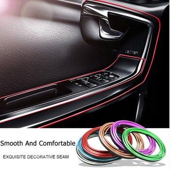 цена на 5M Car Styling Interior Accessories Strip Sticker For Toyota Corolla Avensis Yaris Rav4 Auris Hilux Prius Prado Camry Celica