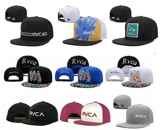 1286af7fee6ddd wholesale drop shopping Hot Fashion Rvca Snapback hats bone gorras fashion  men color block adjustable baseball