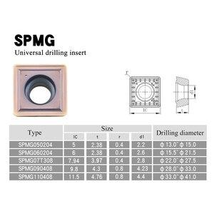 Image 2 - SPMG050204 SPMG060204 SPMG07T308 SPMG090408 SPMG110408 คาร์ไบด์เครื่องกลึง CNC เครื่องมือเครื่องตัดสำหรับ SP ประเภท U เจาะเครื่องมือ Bit