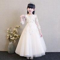 Girls Thicken Warm Princess Wedding Party Dresses New Flower Girl Dresses Appliques First Communion Dresses vestidos