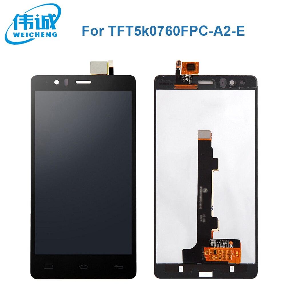 imágenes para WEICEHNG LCD Display + Digitalizador de Pantalla Táctil Original Para BQ Aquaris E5 FHD 0760 IPS5K0760FPC-A1-E + Vidrio Templado