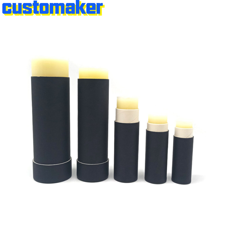 Eco Friendly Environmental Protection Push Type Paper Lip Push Up Tube Paper Empty Tube For Lip Balm