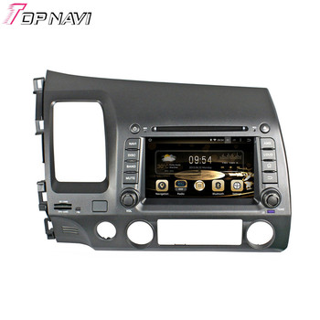 TOPNAVI Quad Core Android 6.0 Car GPS Navigation for Honda CIVIC left driving 2006 2007 2008 2009 2010 2011 Autoradio Stereo image