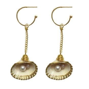Natural Cowrie Shell Earrings For Women Jewerly Fashion Beach Sea Earings femme oorbellen kolczyki pendientes conchas boho