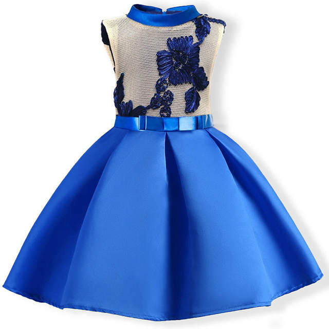 8ad6d78dd3d96 US $13.34 35% OFF|Girls Dress 2019 Summer Sleeveless Embroidered Kids  Wedding Party Dresses 3 4 5 6 7 8 9 10 Years Princess Dress Girls  Costumes-in ...