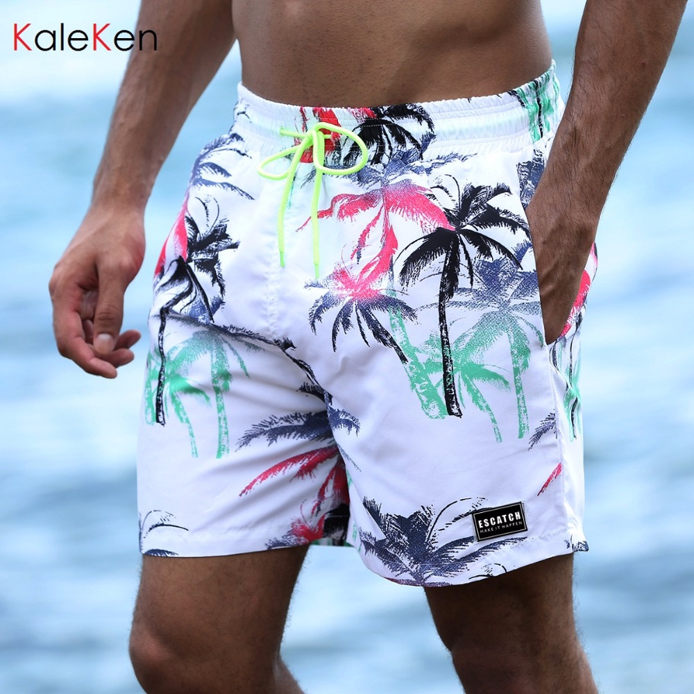 2018 Summer Mens Quick Dry Board Shorts Beach Trunks For Men  6 Colors