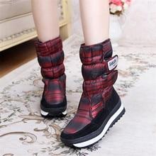 2016 Women's Snow Boots Wedges Waterproof Boots Silk and Sheepskin Leather High Warm Wool Winter Shoes Platform Women Long Boots