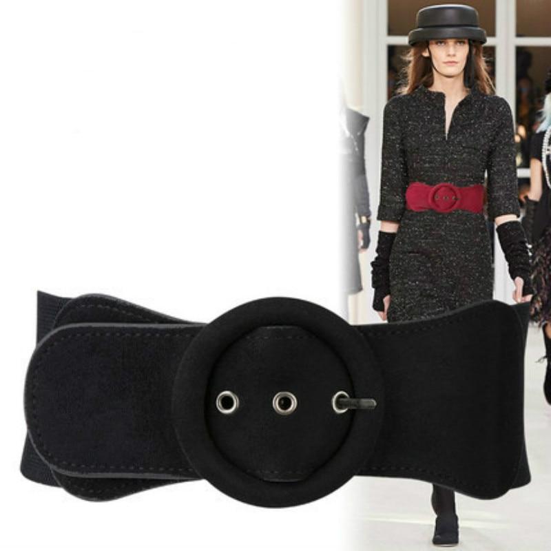 Korean Version Fashionable Wide Waistband Women Needle Buckle Woman's Waist Fleece Womens Plus Size Belts 7.5*65CM