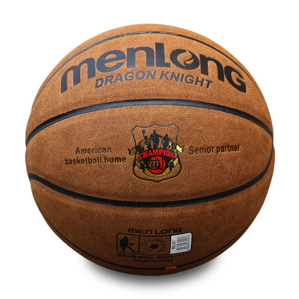 Size7 Genuine Leather Indoor & Outdoor Anti-slip Sports Basketball Ball Anti-friction Basketball 2-Colors BGS0001 kuangmi camouflage size 7 basketball ball outdoor indoor pu leather basketball cool street freestyle basketbal 1pc