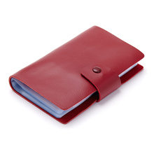 Unisex 100% Genuine Cow Leather Big Capacity 120 Bit Card Holders ID Credit Name Business Cards Book Bag Wallet For Women Man