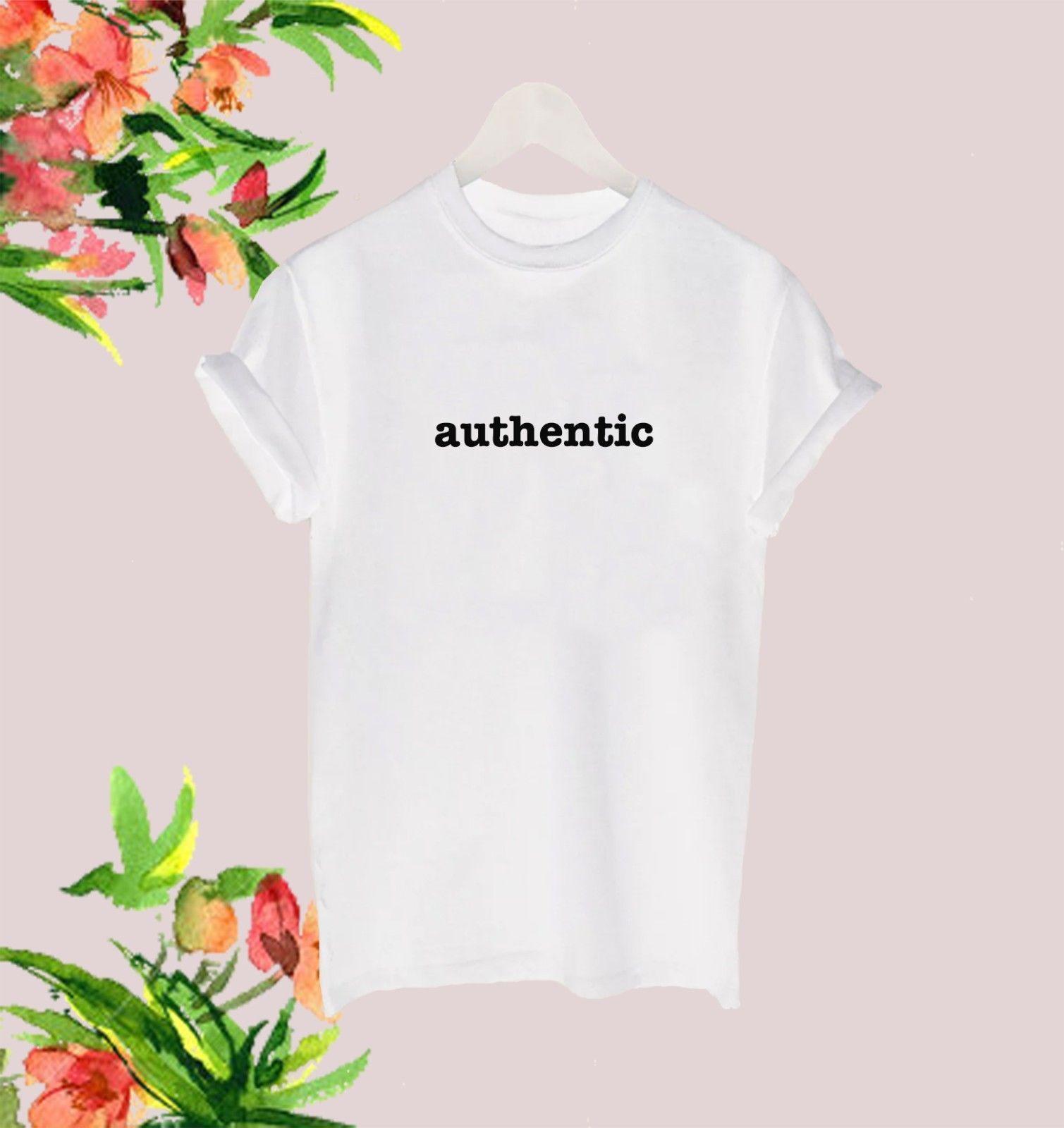 AUTHENTIC LADIES men WOMENS SLOGAN WHITE BLACK T SHIRT TEE TSHIRT GIFT 90S STYLEFashion Design Free Shipping  Mens Shirts