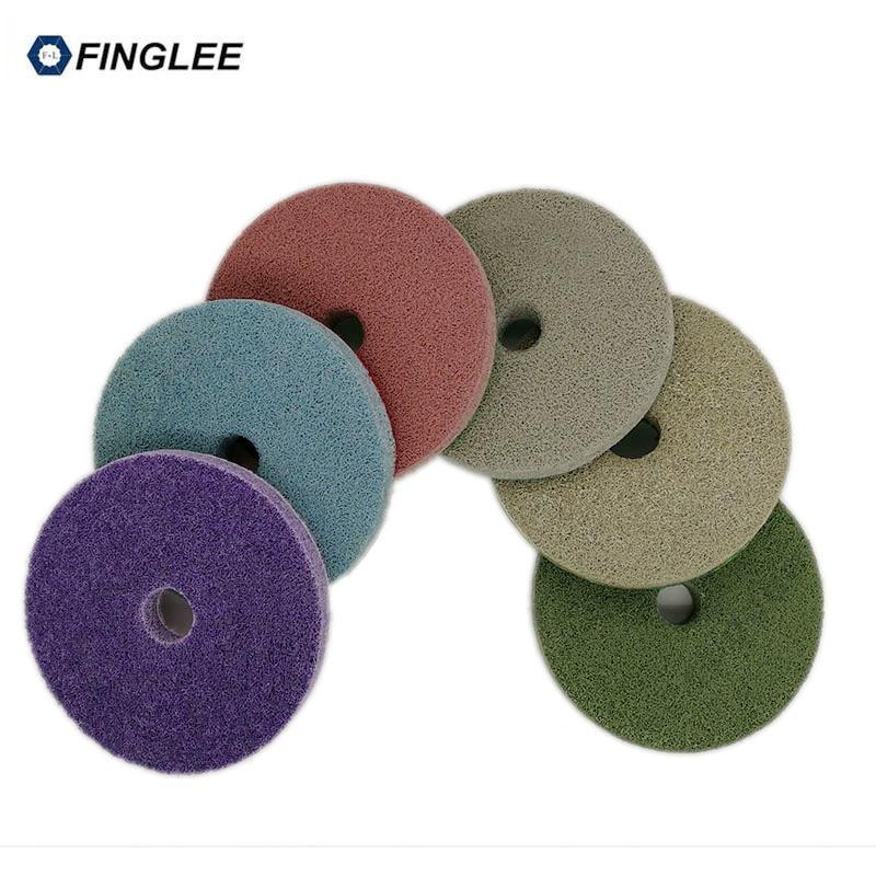 """FINGLEE 4 """"pollici 6 pezzi / set 100mm Terrazzo, granito, cemento, porcellana, spugnette lucidanti utilizzate per tamponi per lucidare il pavimento in marmo"""