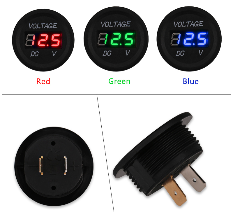 Auto voltmetro collegamento