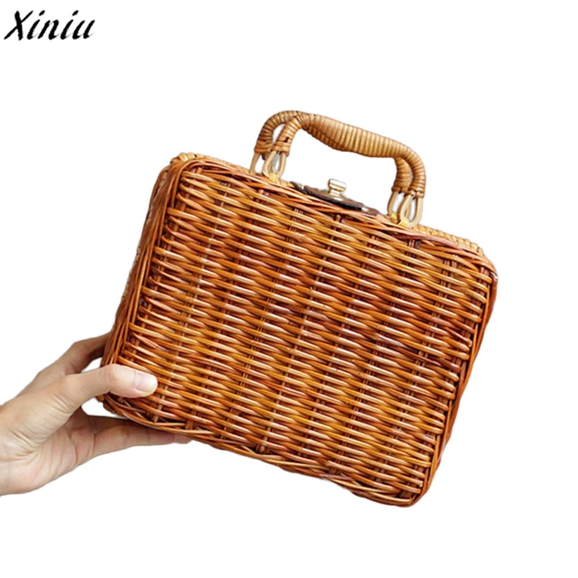 3655e72a162 New Bamboo Bag Summer Ladies Tote Luxury Designer Bamboo Handbags Travel Clutch  2018 Hot Sale Fashion Female Pouch Women Bag