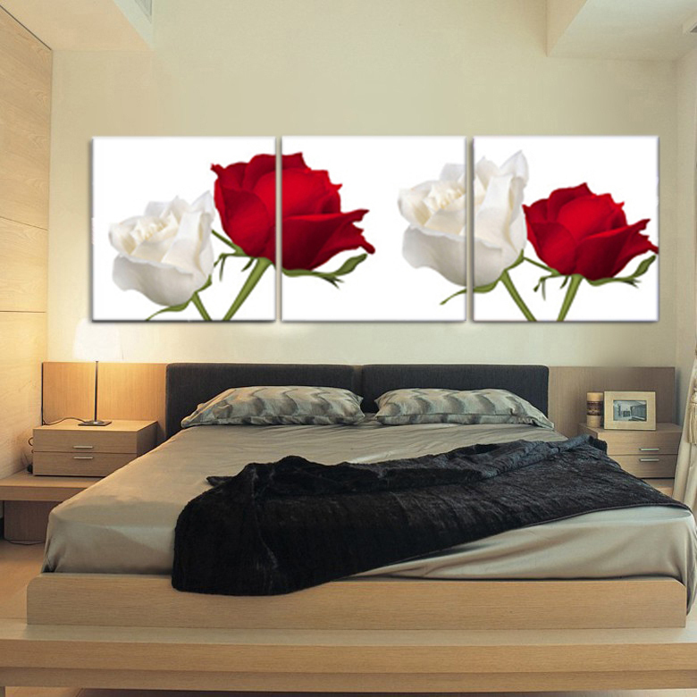 Red Rose Canvas Posters And Prints Black And White Black Red Art Canvas Photo Pictures Wall Stickers Home Decor Beach Wall Art