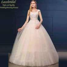 Dubai Luxury Ball Gown Cap Sleeve Lace and Pearls Wedding Dresses 2016 White Puffy Long Bridal Gowns vestidos de novias XW102