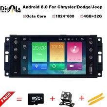 Восьмиядерный Android 8.0 dvd-плеер автомобиля GPS Navi для 2007-2010 Jeep Wrangler Unlimited Радио стерео с Bluetooth WI-FI 1080 P видео