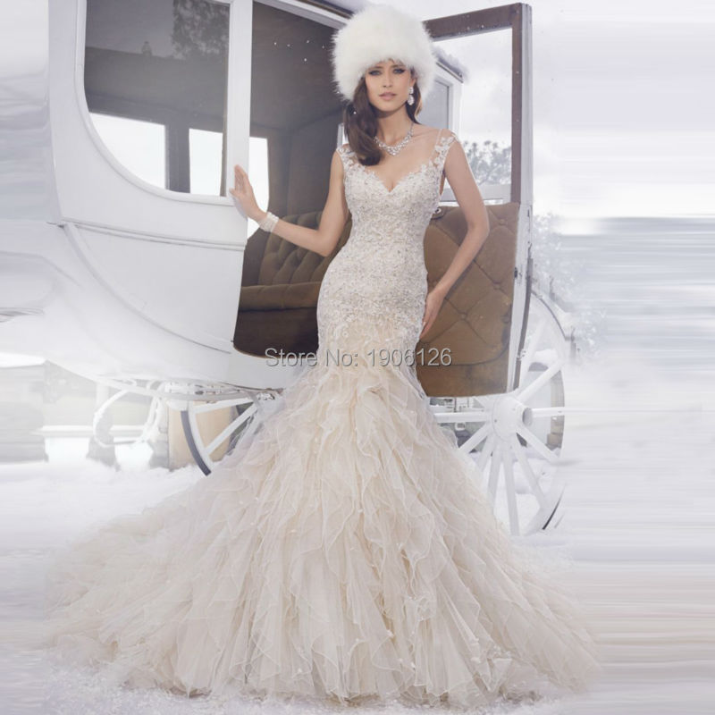 famous bridal gown designers civil wedding dress lace organza ruffles court train open back vestido de