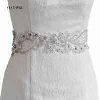 S53 Stock Free Shipping Elegant High Quality Pearls Bridal Belt Beaded Waist Belt Ladies Belts Fast