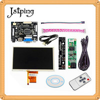 Jstping 7 inch 800*480 AT070TN90 92 93 LCD screen Monitor Control Driver Board HDMI VGA AV for Raspberry Pi touch screen panel