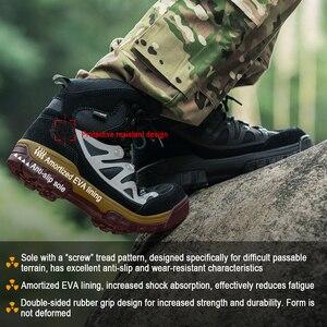 Image 5 - Soldat gratuit Sports de plein air tactiques hommes bottes, chaussures de randonnée pour la montagne, chaussures pour le Camping, escalade en cuir importé