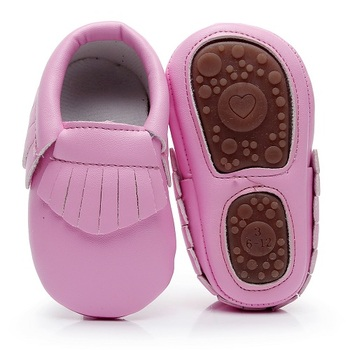 New hard sole toddler moccasins soft PU Leather Fringe baby shoes Non-slip first walkers for 0-24M boys and girls hot sale - discount item  20% OFF Baby Shoes