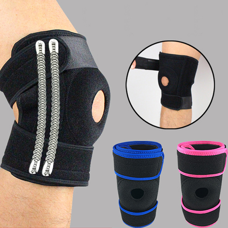 1 pcs Soutien Sports Genou Pads Football Basketball Volleyball Jambe Genou Soutien Brace Patella Garde Protecteur HX011